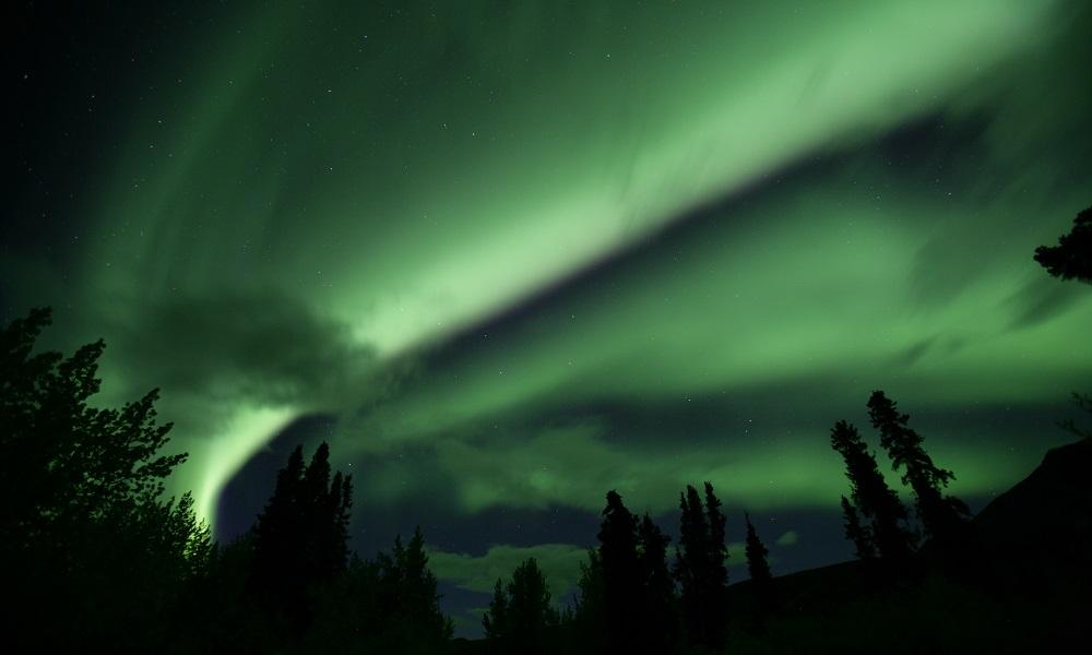 La magia de las auroras boreales en Yukón